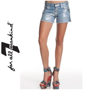 7 for all Mankind   Metallic shorts